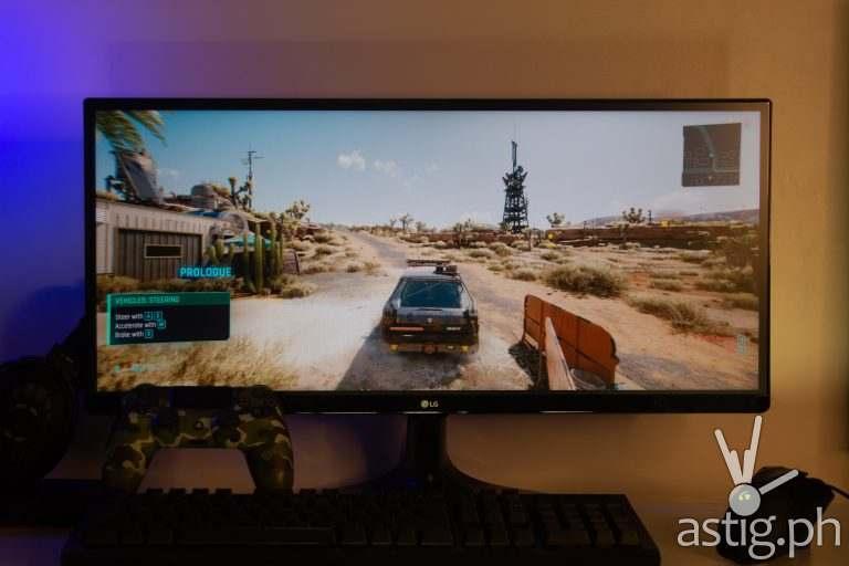 Cyberpunk 20177 gaming - LG 25UM58 UltraWide Monitor (Philippines)