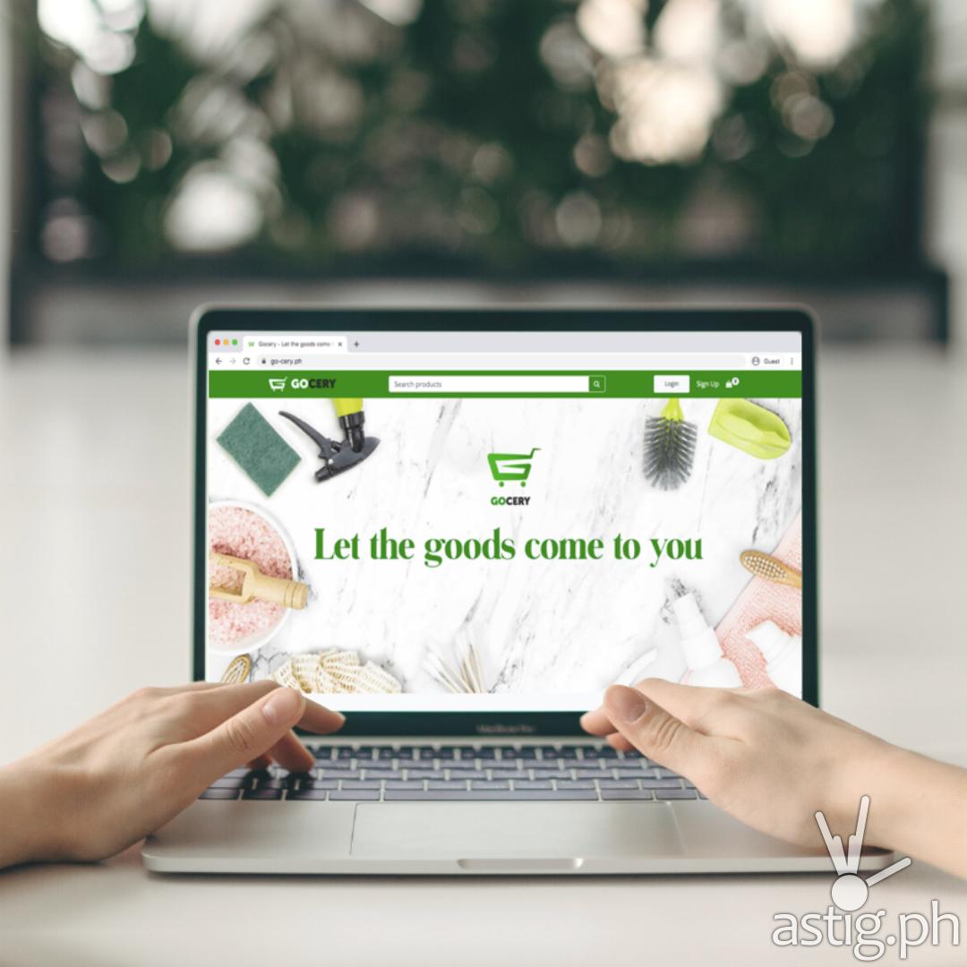 Gocery Website Feature on Laptop