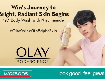 Here's a sneak peak of Win's photo that can be spotted in stores for Olay Bodyscience.