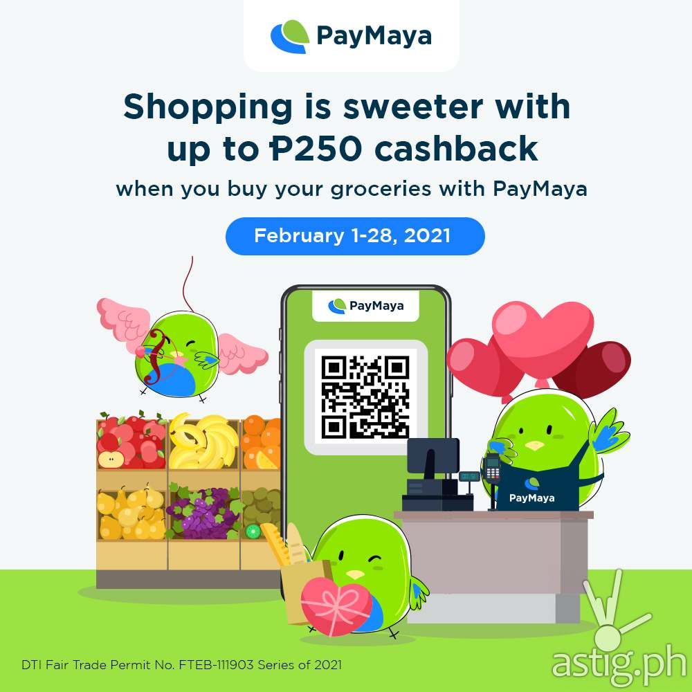 PayMaya cashless grocery Philippines