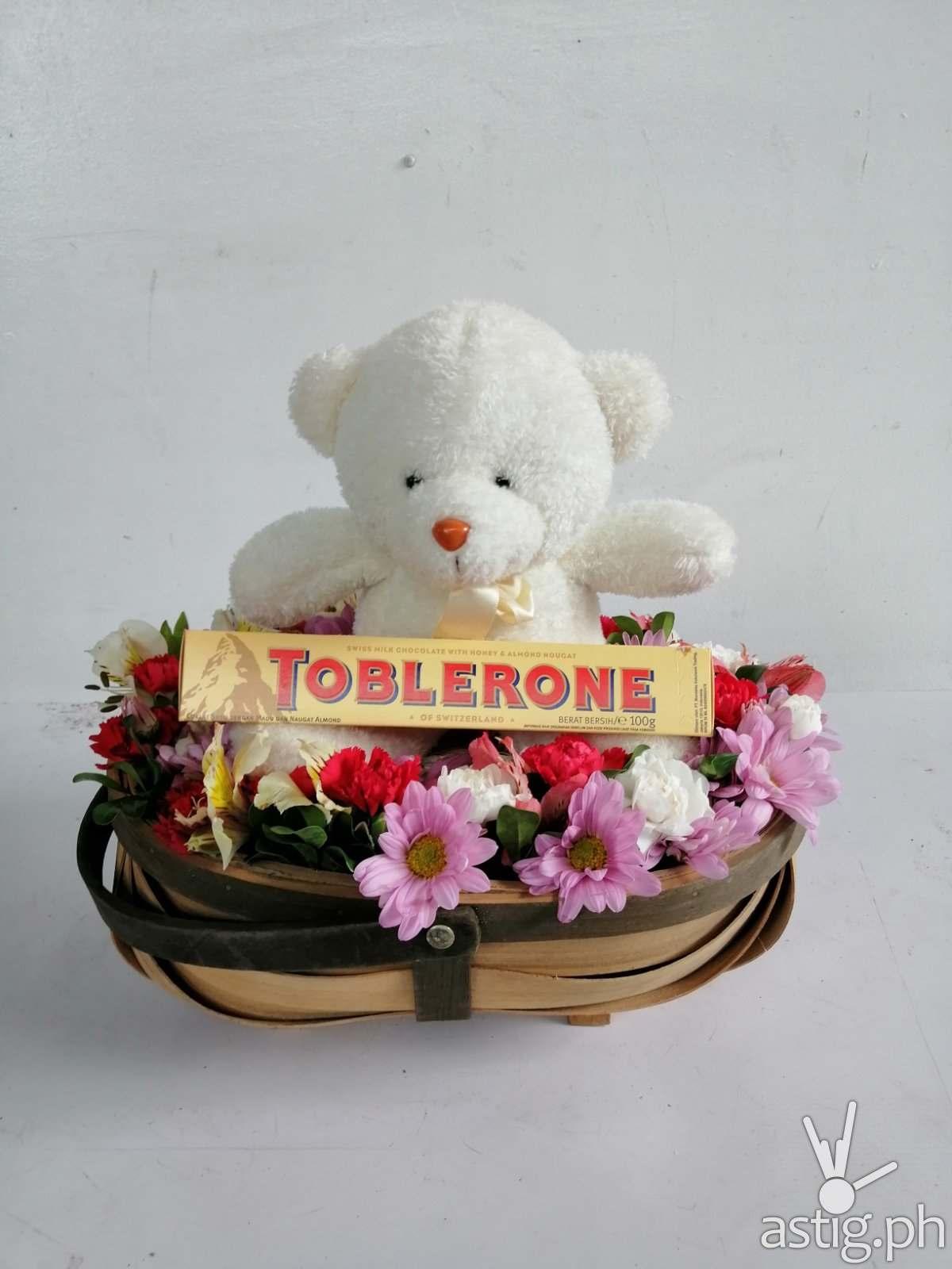 Toblerone Teddy Basket
