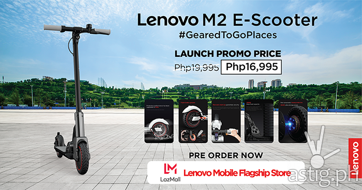 Launch promo price at Lazada_Lenovo M2 E-scooter