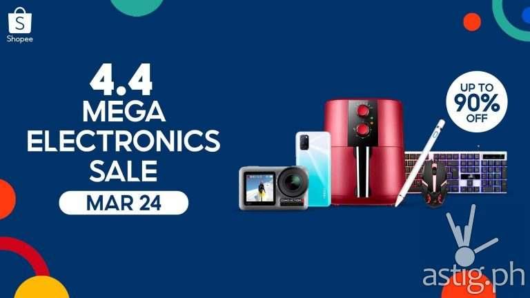 Shopee 4.4 Mega Electronics Sale