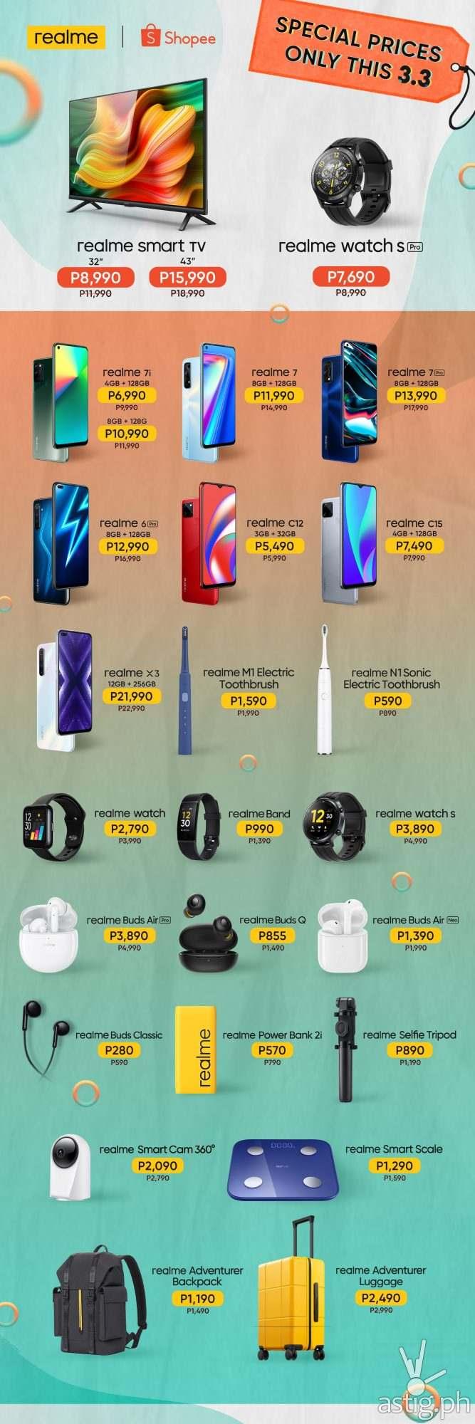 realme Shopee 3.3 Mega Shopping Sale