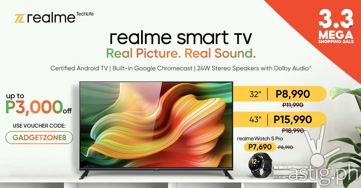 realme Smart TV Shopee 3.3 Discount