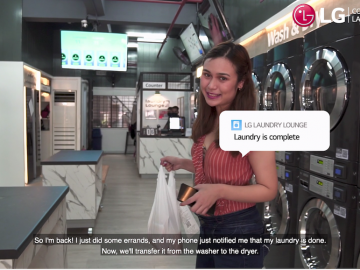 LG Smart Laundry Lounge makes the whole laundromat experience safer