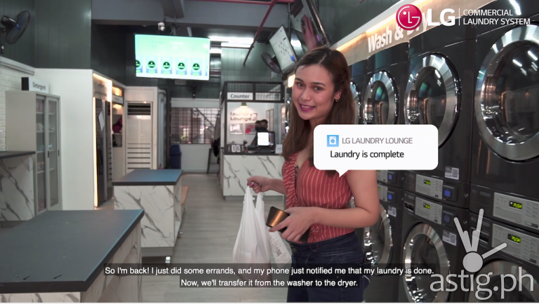 LG Smart Laundry Lounge makes the whole laundromat experience safer