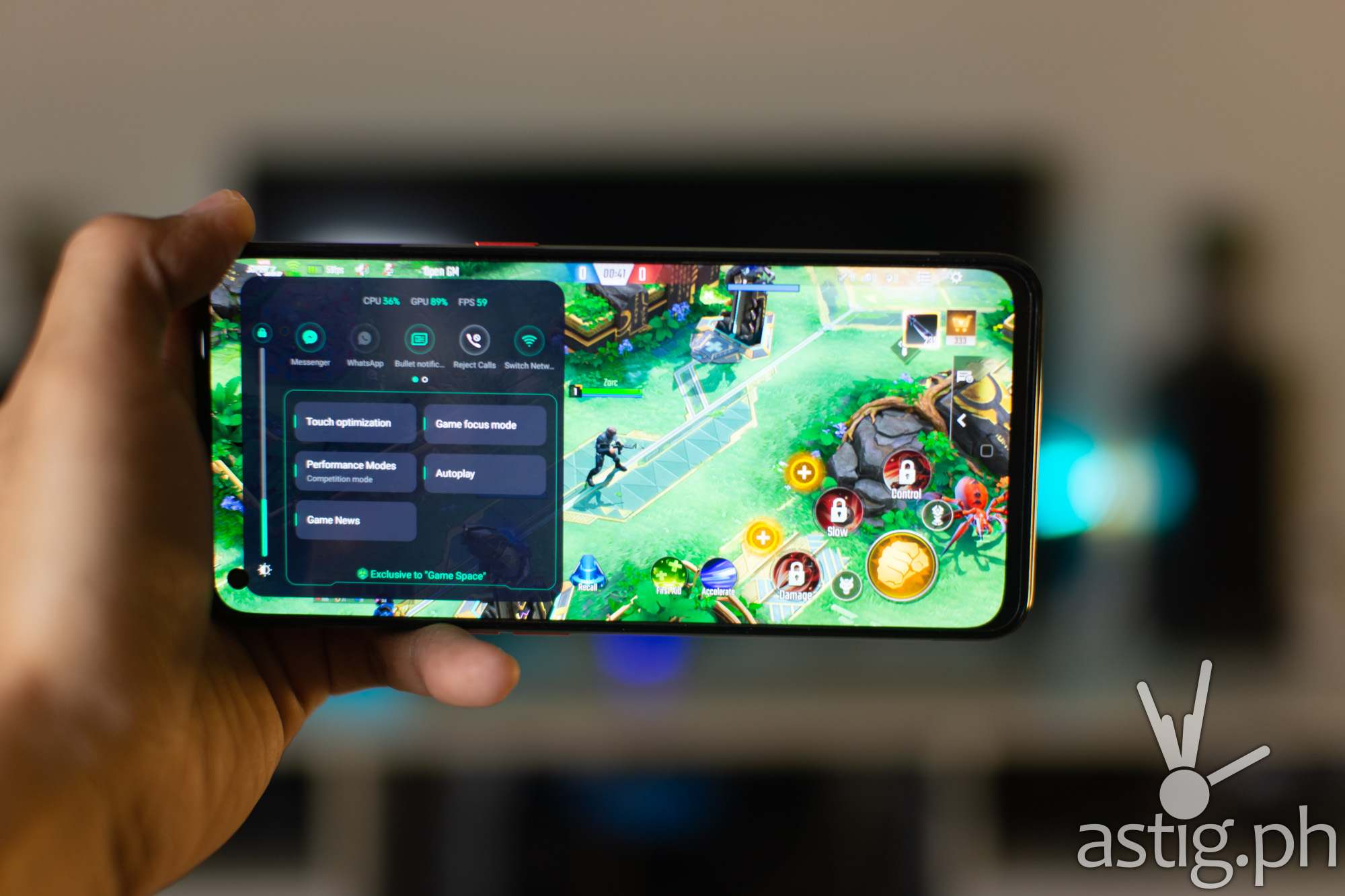 Game Space in-game menu - OPPO Reno5 Marvel Edition
