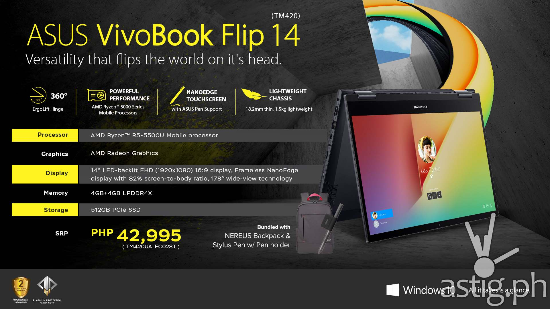 ASUS VivoBook Flip 14 TM420 Summary