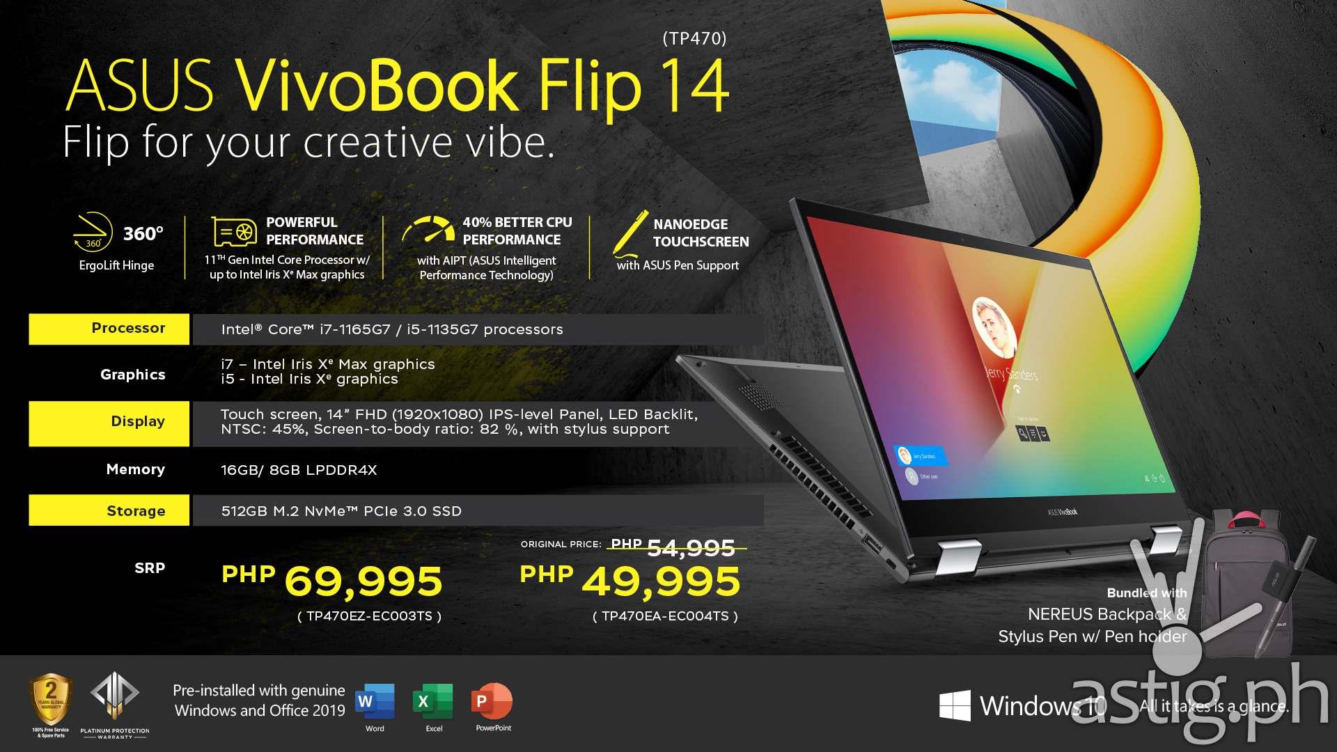 ASUS VivoBook Flip 14 TP470 Summary