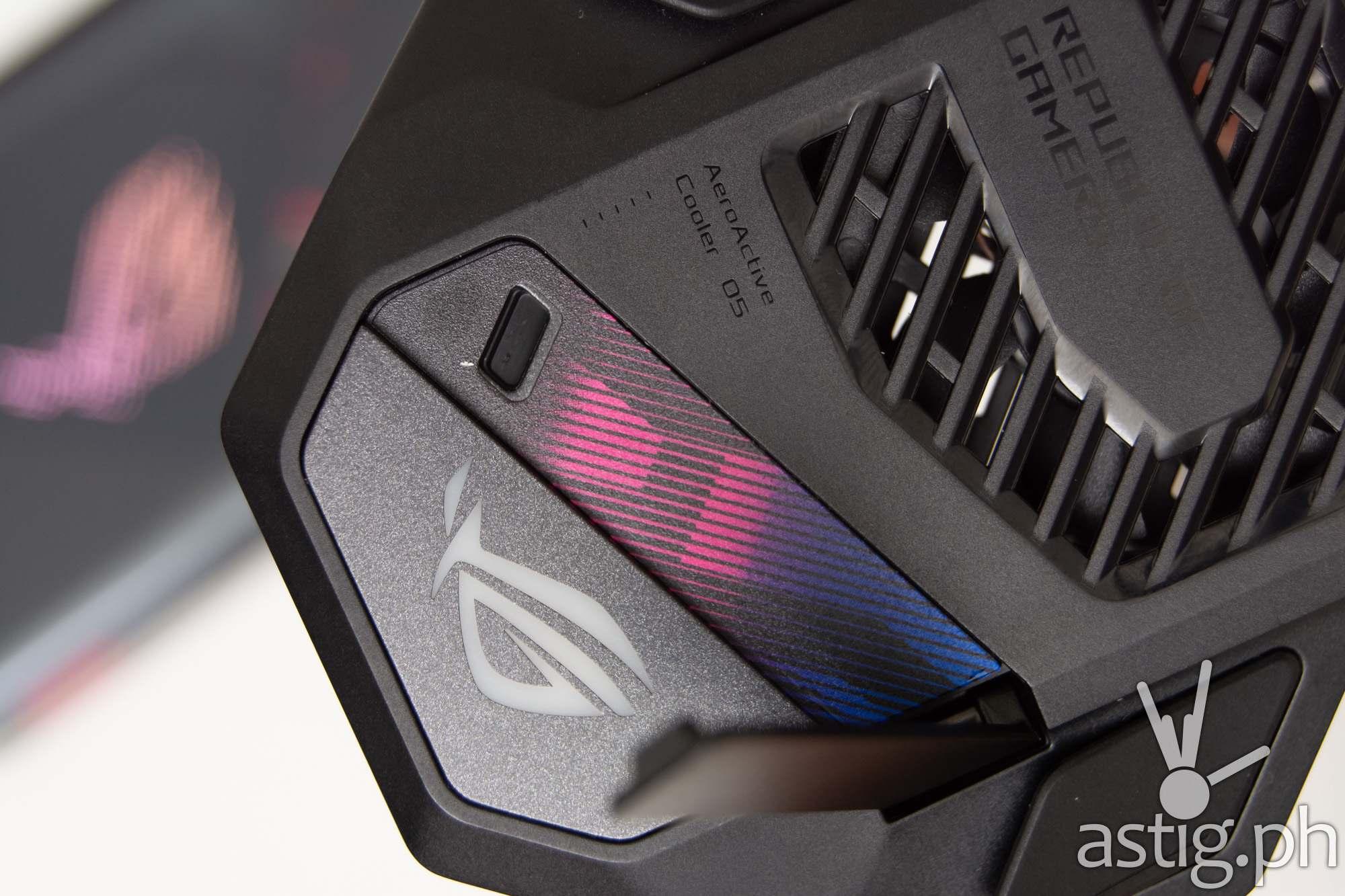 AeroActive Cooler 5 close-up - ROG Phone 5 (Philippines)