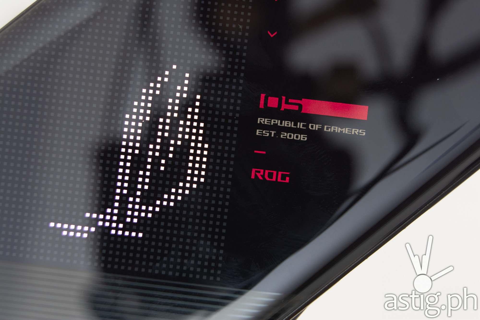 LED logo closeup - ROG Phone 5 (Philippines)