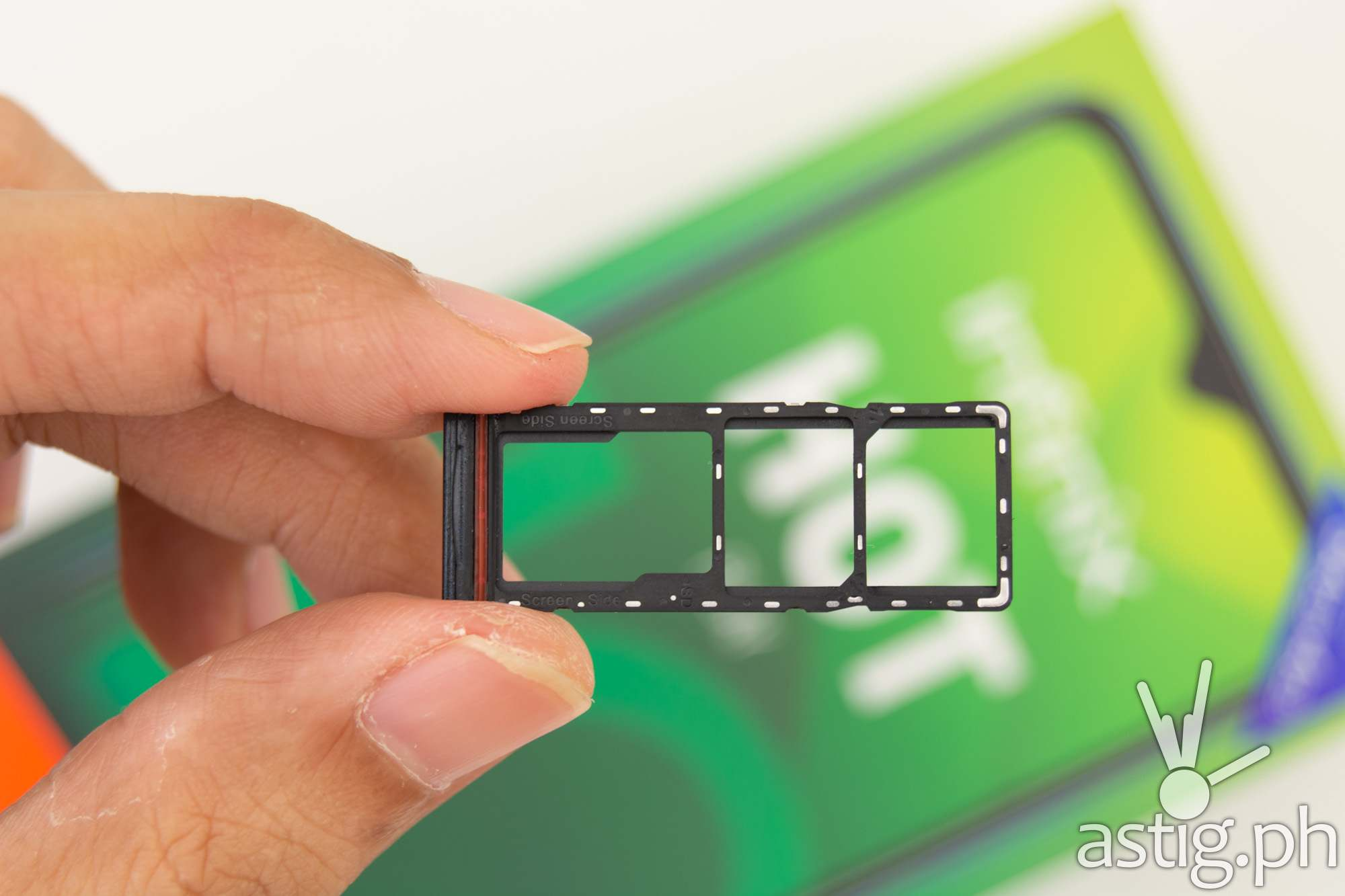 SIM card, micro SD tray - Infinix Hot 10 Play (Philippines)