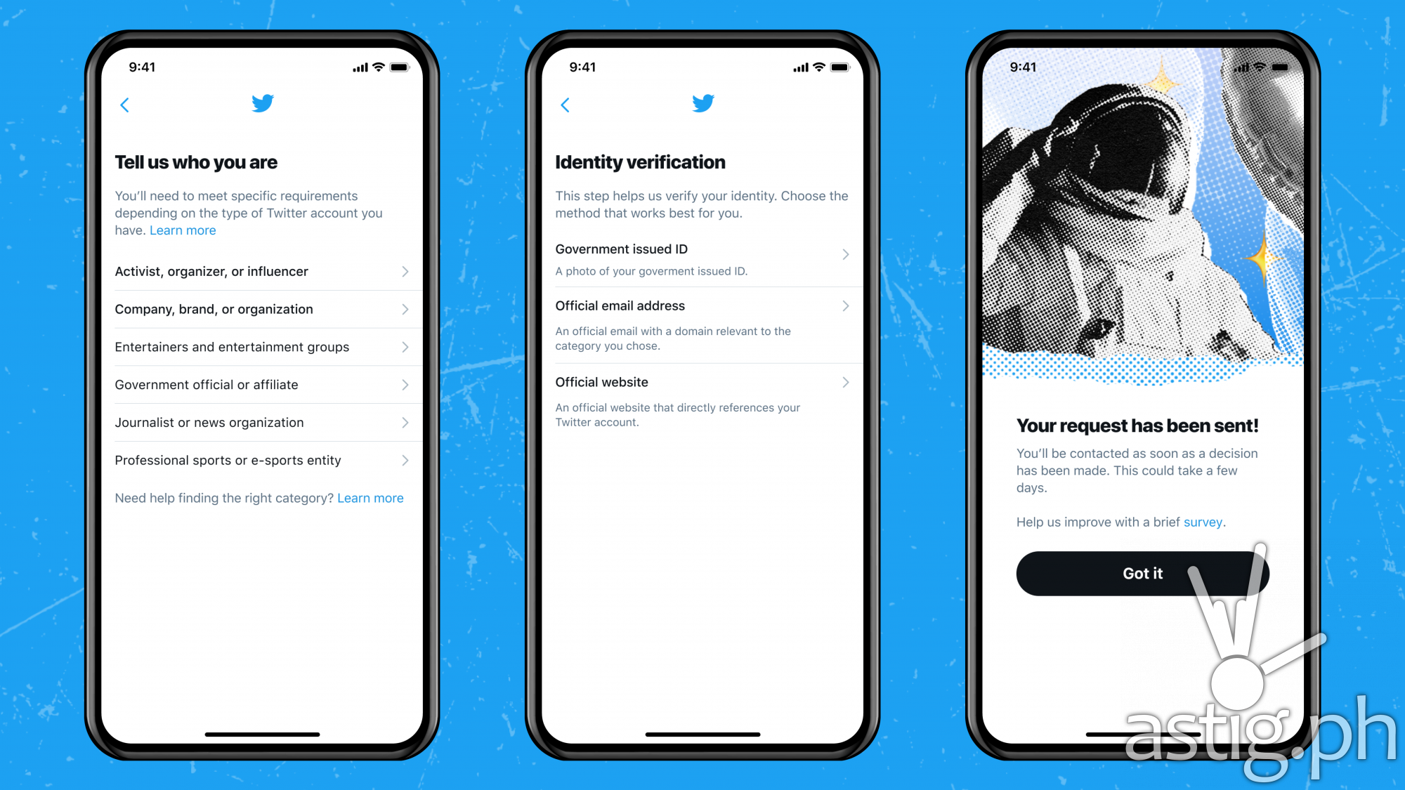 Twitter verification application