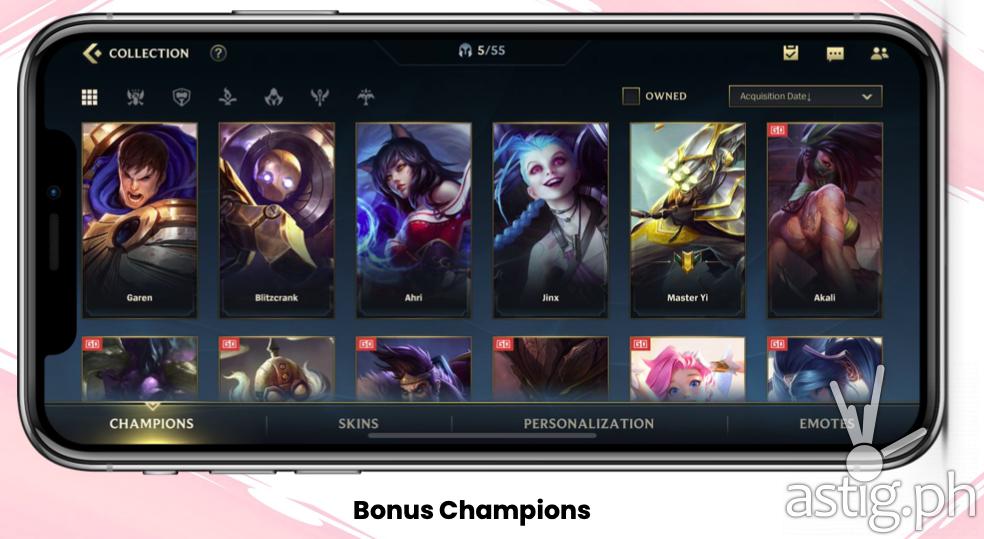 Bonus Champions - Globe RiotGO promo (Philippines)