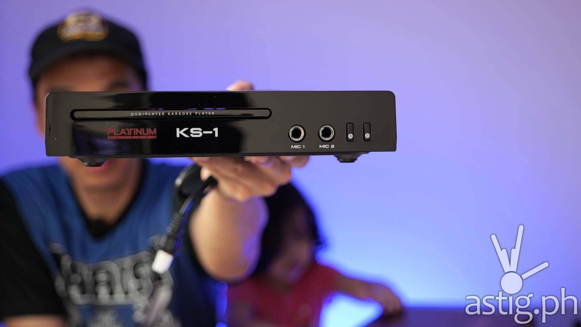 Main player - Platinum Karaoke KS-1 home karaoke videoke system