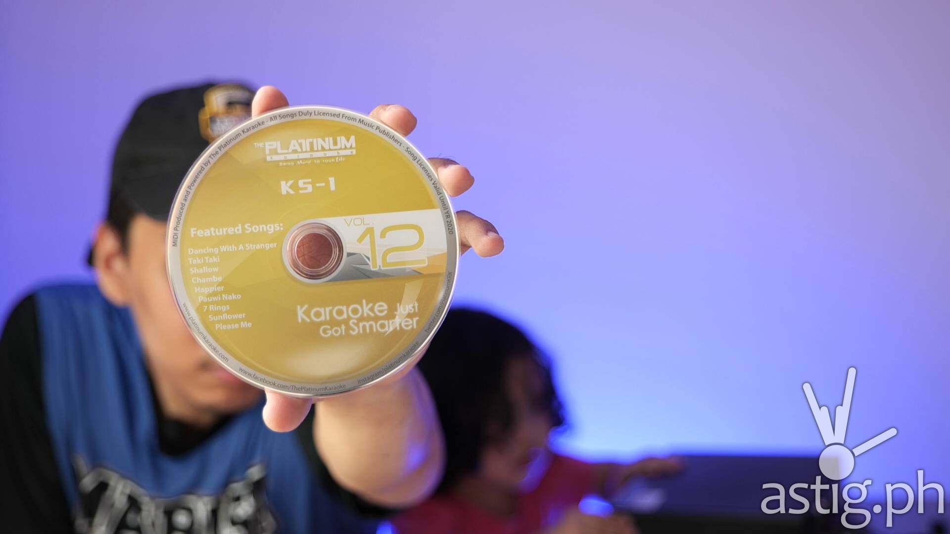 Song expansion disc - Platinum Karaoke KS-1 home karaoke videoke system