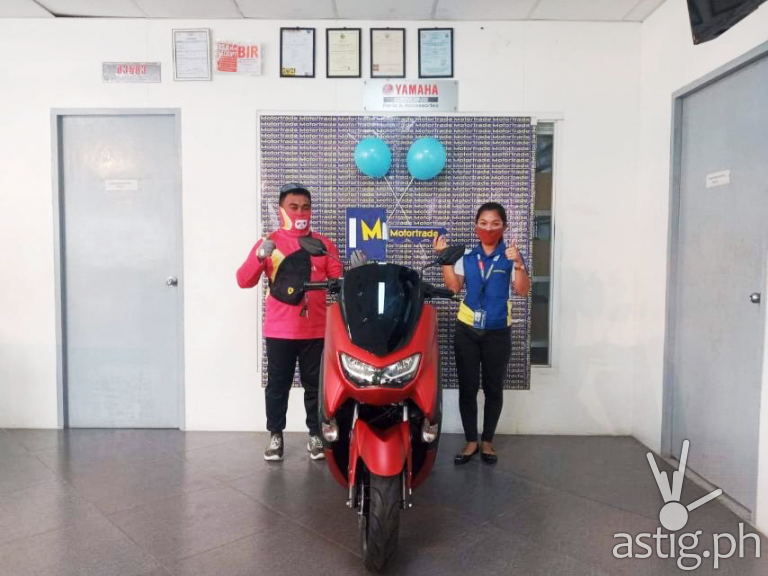 Ka-Panda John when he claimed his new Yamaha NMAX motorcycle at the Motortrade Mandaue 3 branch