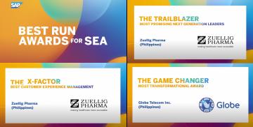 Best Run Awards in PH - Globe Telecom and Zuellig Pharma