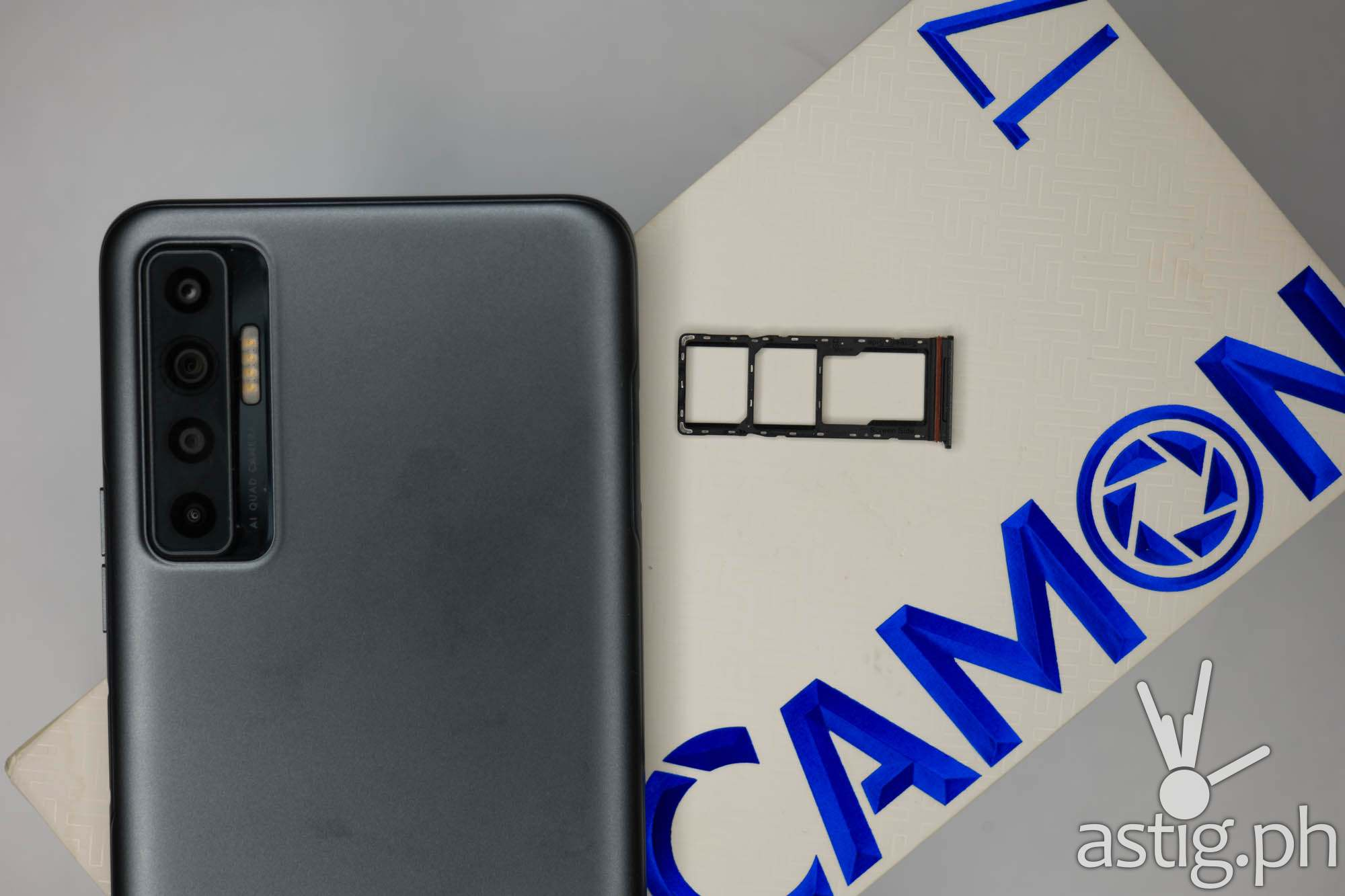 Dual SIM card and expansion slots - TECNO Camon 17P (Philippines)