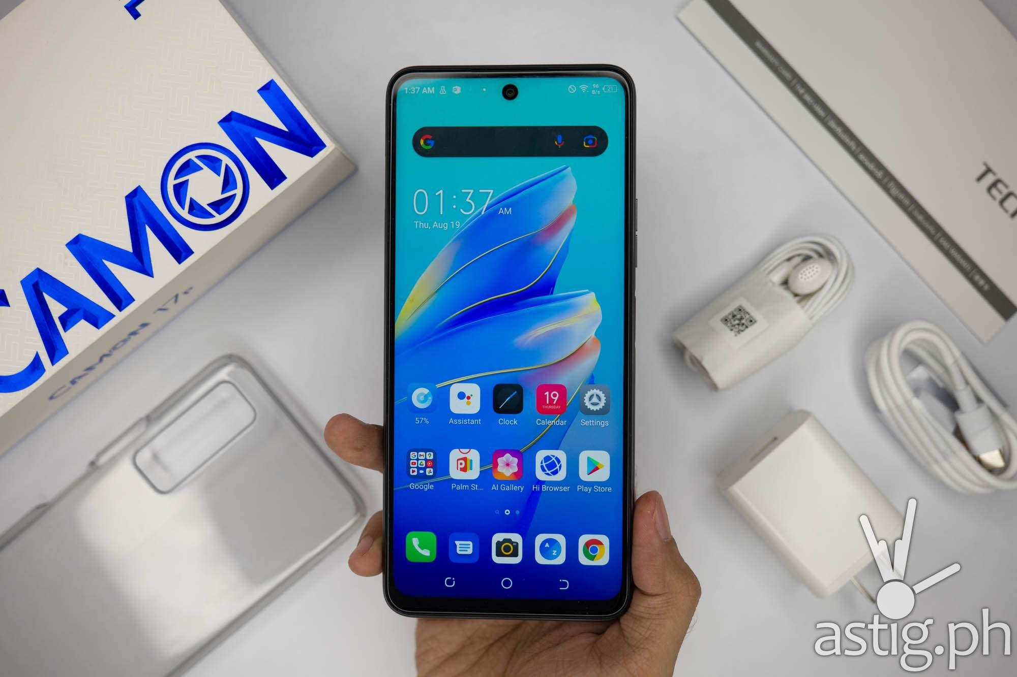 Handheld front - TECNO Camon 17P (Philippines)