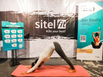 """The """"Be Your Best Yoga Pose Challenge"""" was one of the contests for Sitel Philippines associates that encouraged them to participate and gave them a chance to win fun prizes. Margilen Reyes, Sitel Eton, was among those who rose to the challenge."""