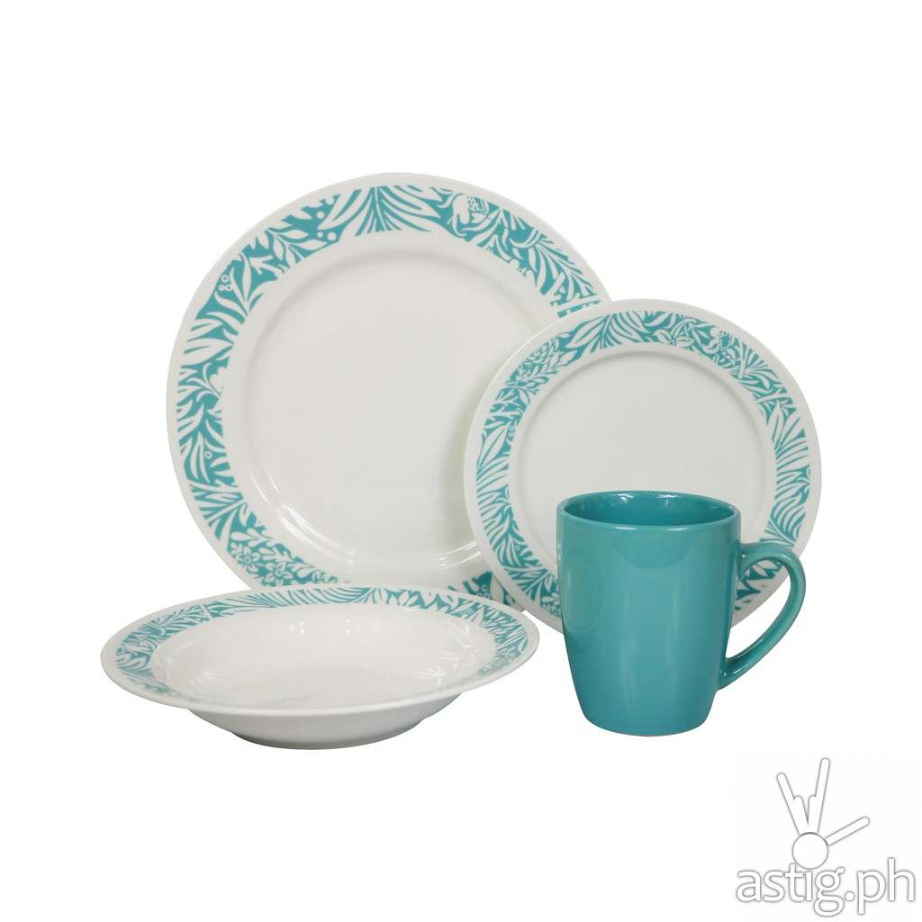 Omega Houseware Lileas 8pc Newbone Dinner Plates, Side Plates & Cups Dinner Set