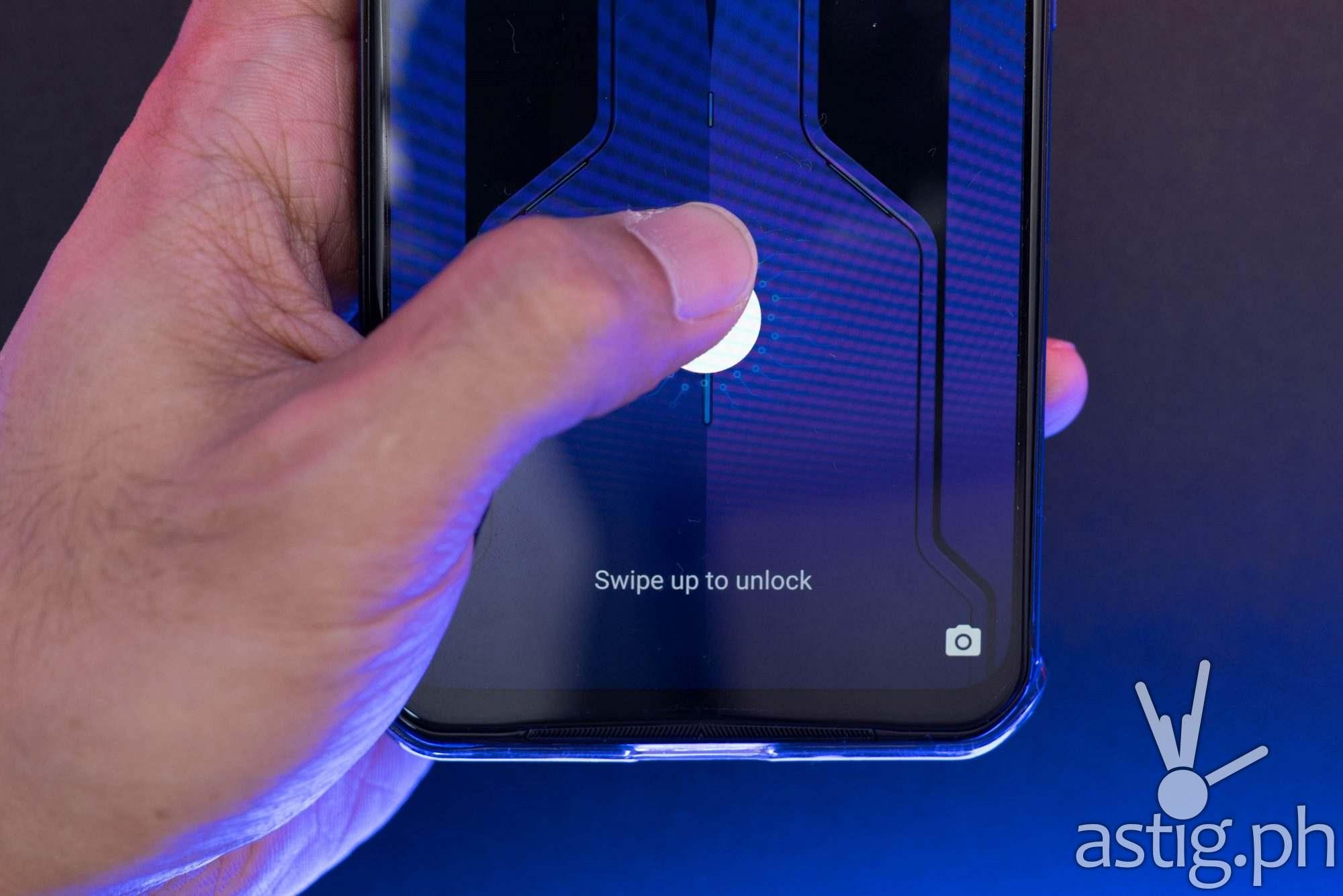 Under-display fingerprint scanner - Legion Phone Duel 2 (Philippines)