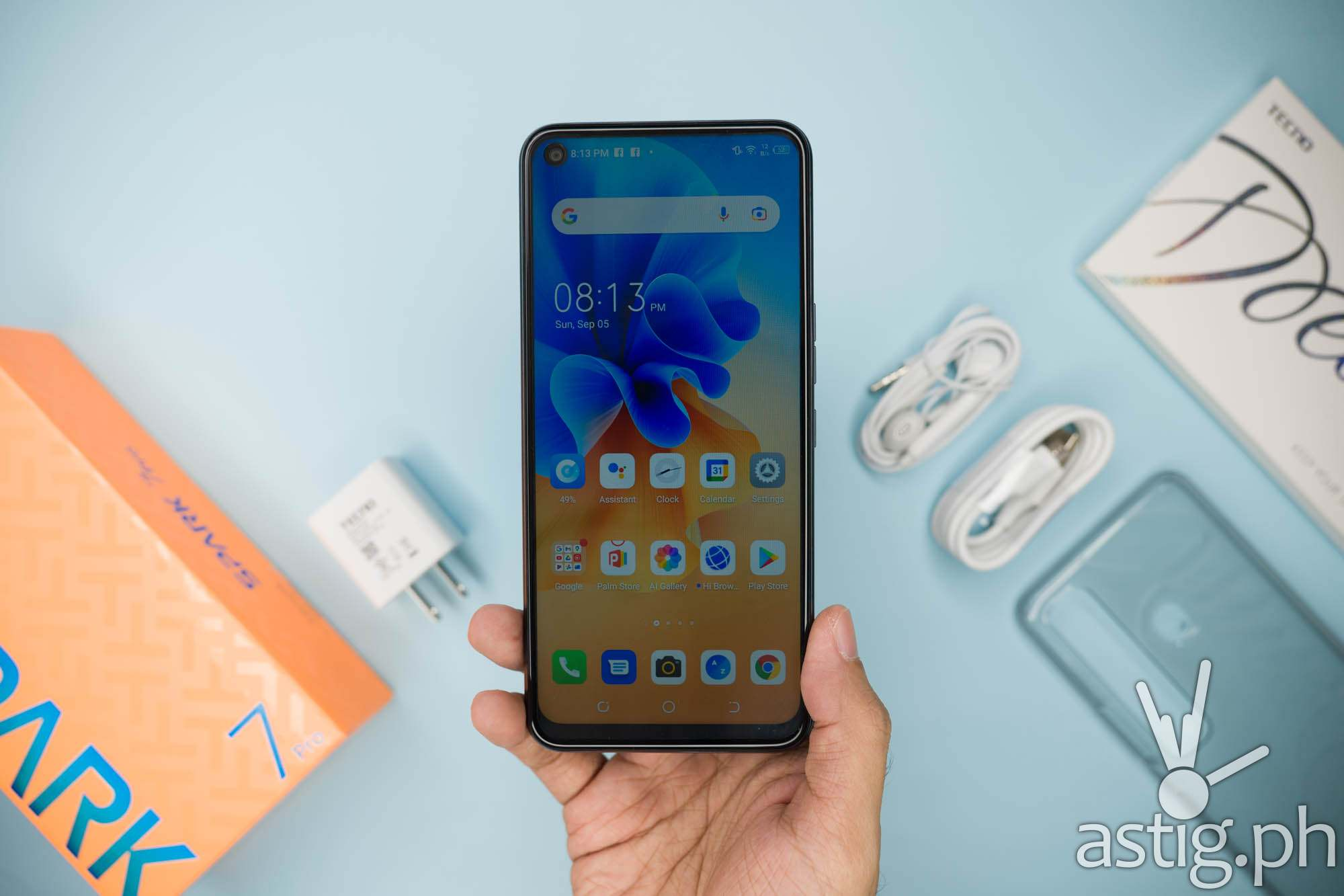 Handheld front - TECNO Spark 7 Pro