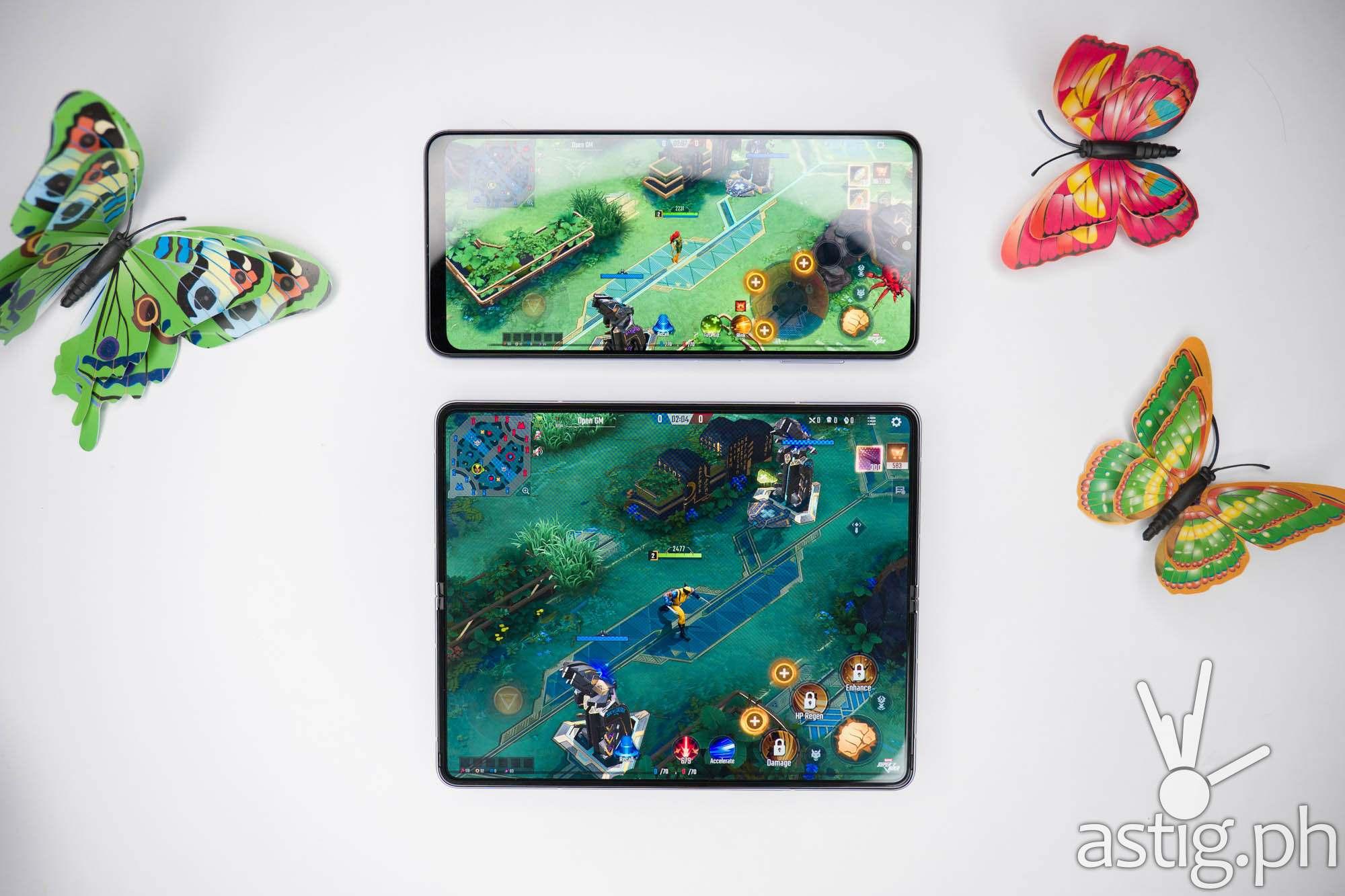Mobile gaming vs Galaxy A22 5G - SAMSUNG Galaxy Z Fold3 5G (Philippines)