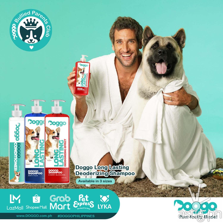 Nico with Pochola Doggo Long Lasting Deoderizing Shampoo