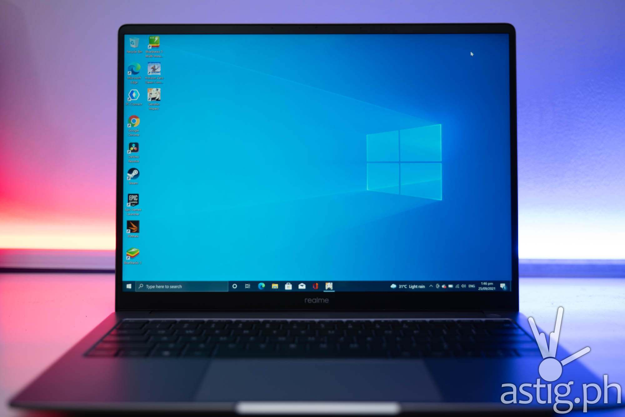 Windows 10 desktop - realme Book (Philippines)